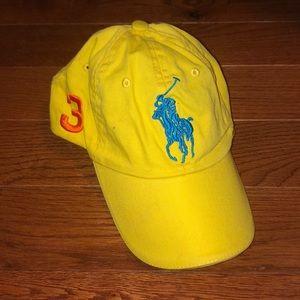 Yellow Ralph Lauren baseball hat